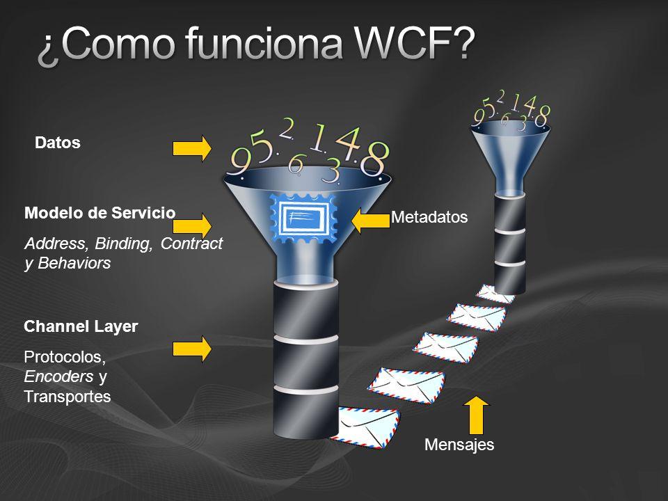 ¿Como funciona WCF Datos Modelo de Servicio Metadatos