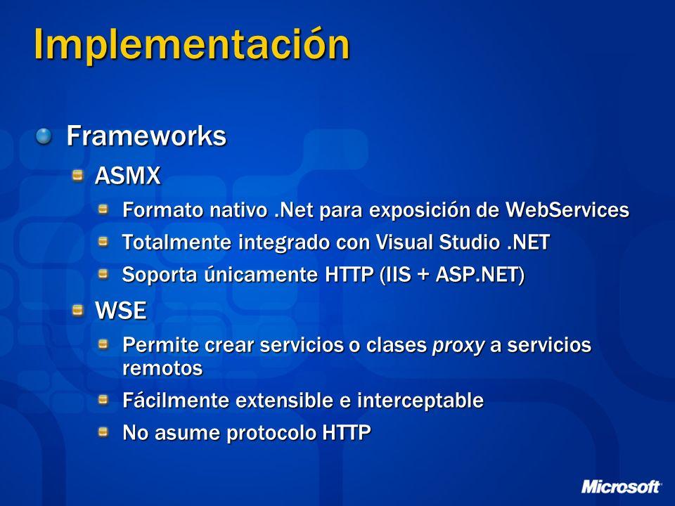 Implementación Frameworks ASMX WSE