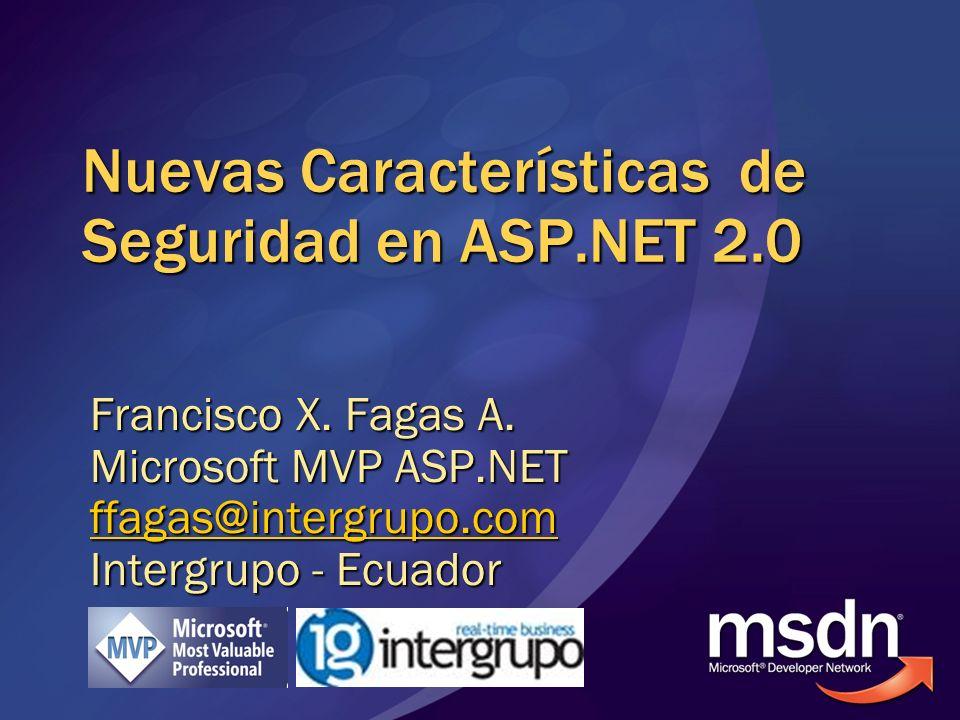 Nuevas Características de Seguridad en ASP.NET 2.0