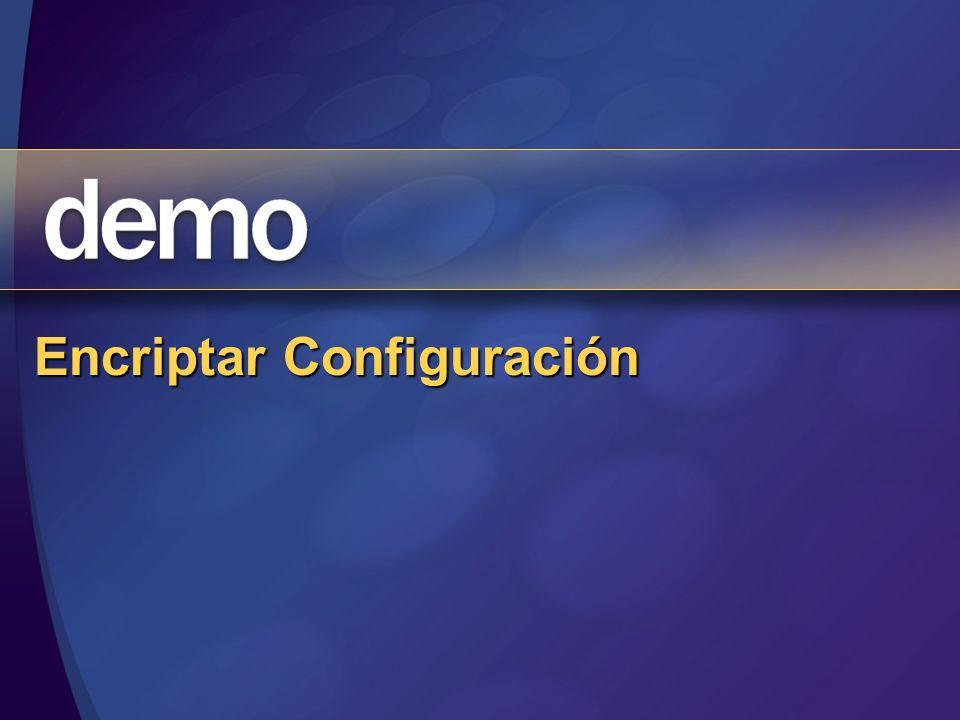 Encriptar Configuración