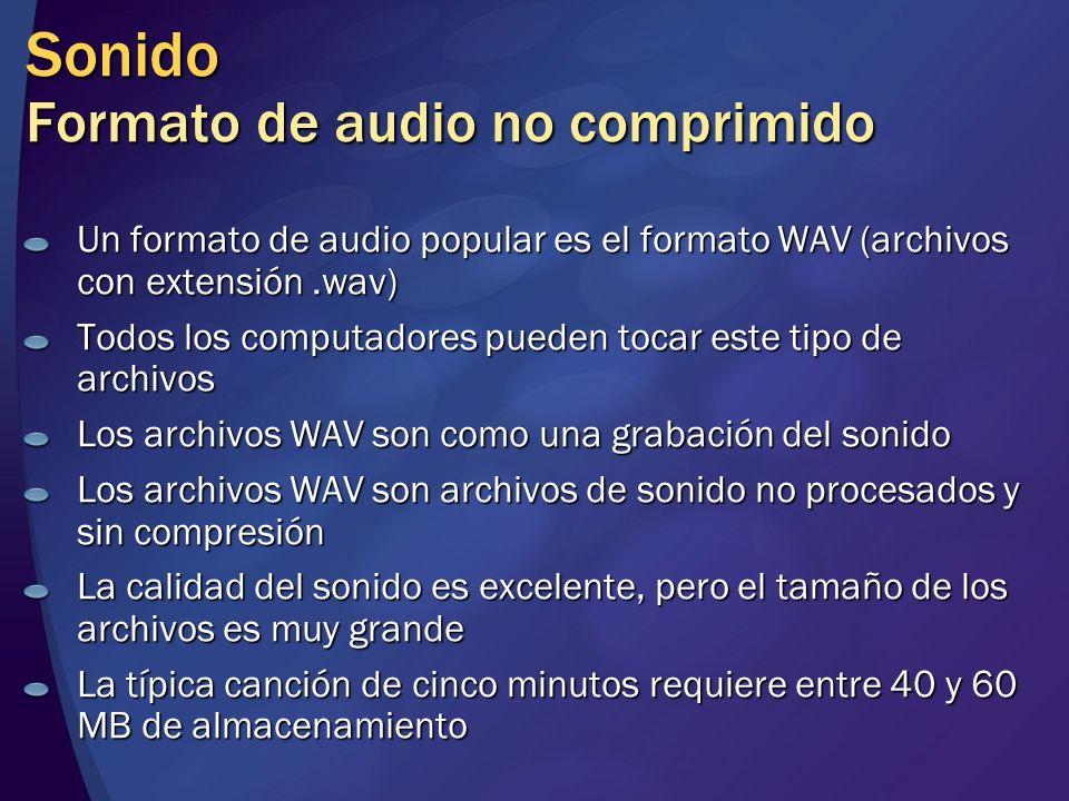 Sonido Formato de audio no comprimido