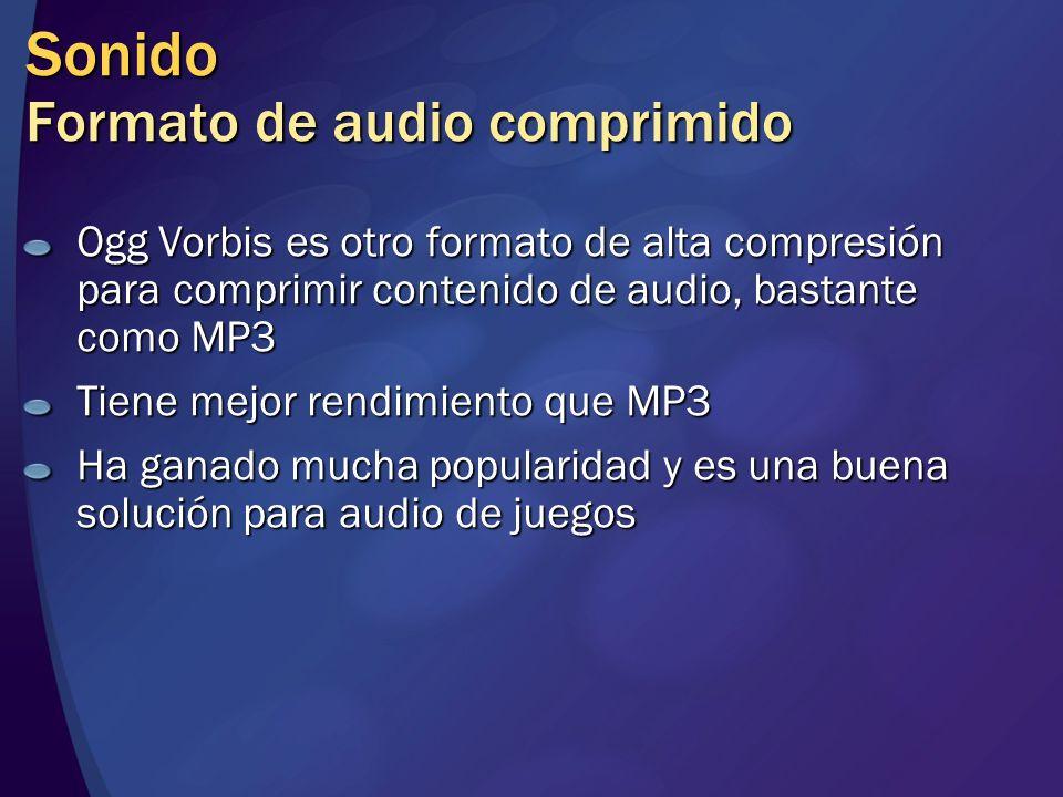 Sonido Formato de audio comprimido