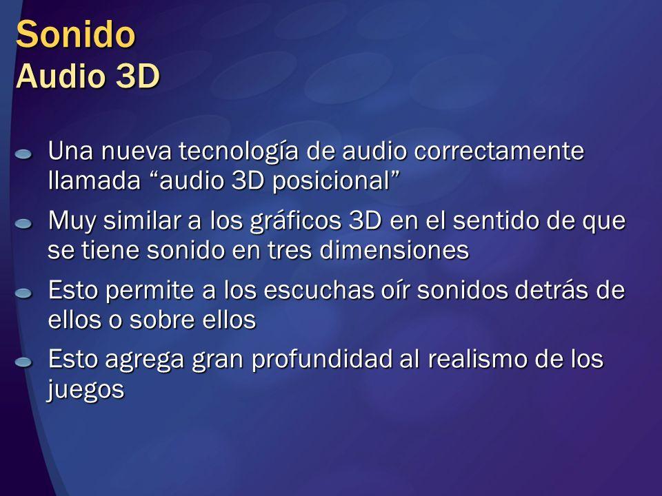 Sonido Audio 3D Una nueva tecnología de audio correctamente llamada audio 3D posicional