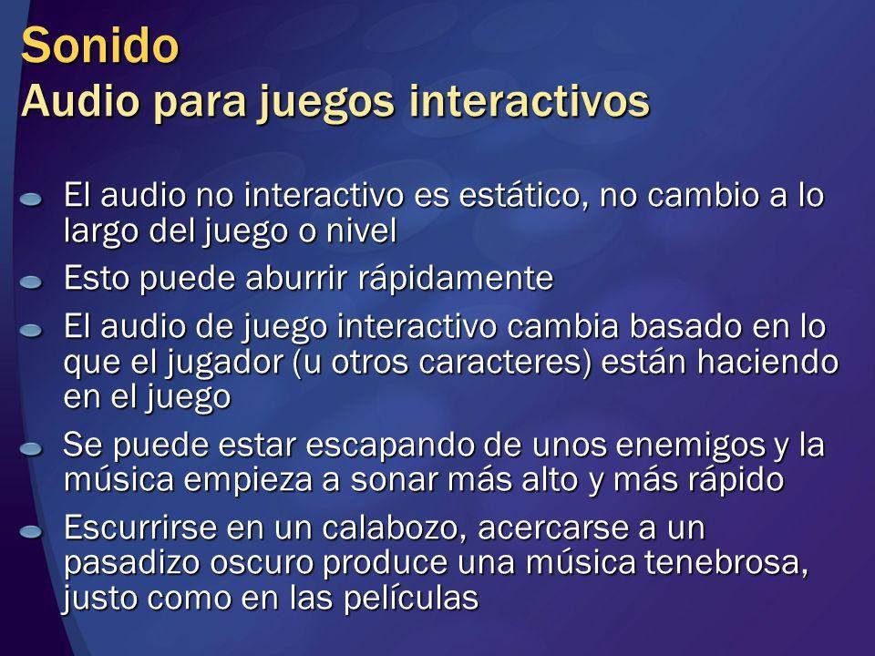 Sonido Audio para juegos interactivos