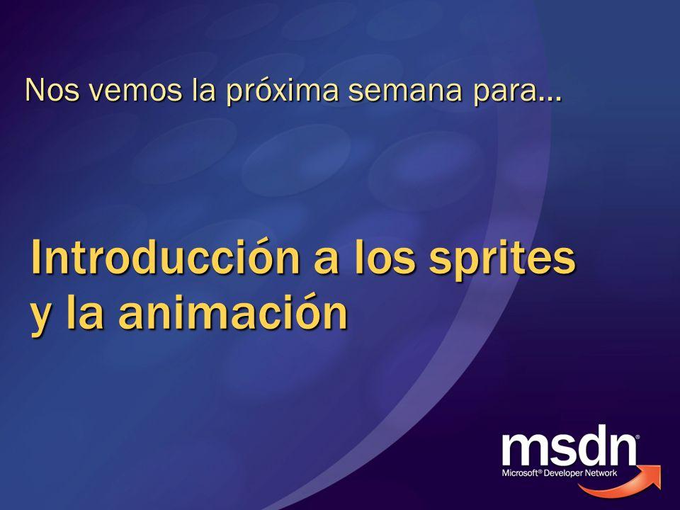 Introducción a los sprites y la animación