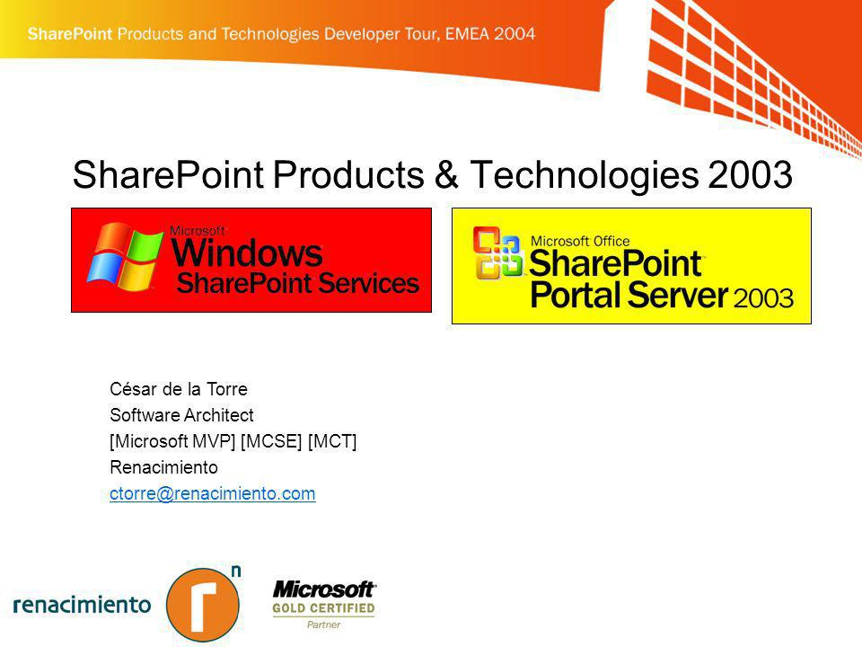 SharePoint Products & Technologies 2003