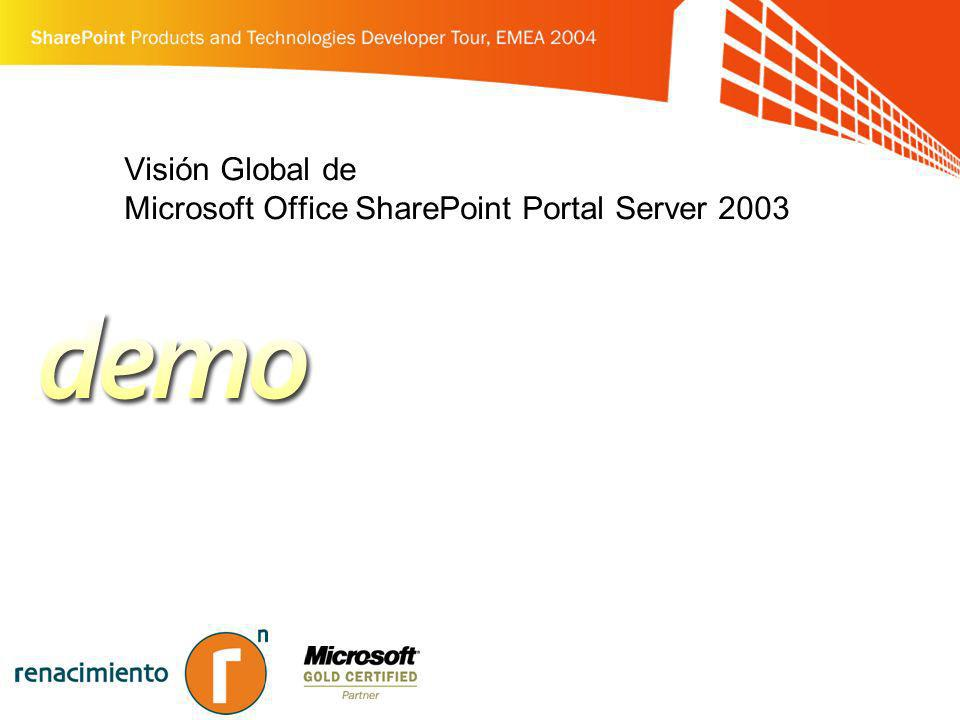 Visión Global de Microsoft Office SharePoint Portal Server 2003