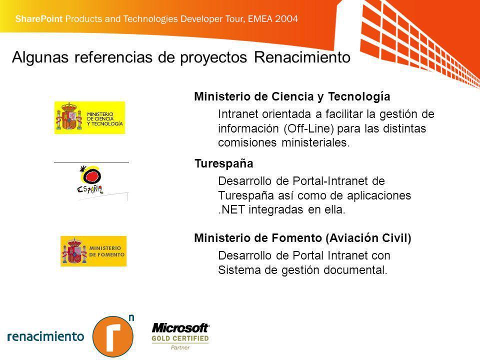 Algunas referencias de proyectos Renacimiento