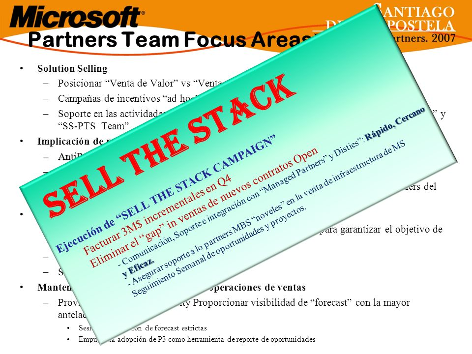 Sell The Stack Partners Team Focus Areas