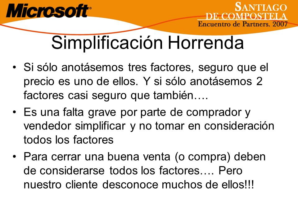 Simplificación Horrenda