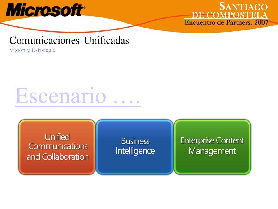 Escenario …. Comunicaciones Unificadas Visión y Estrategia