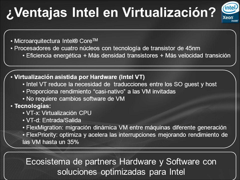 ¿Ventajas Intel en Virtualización