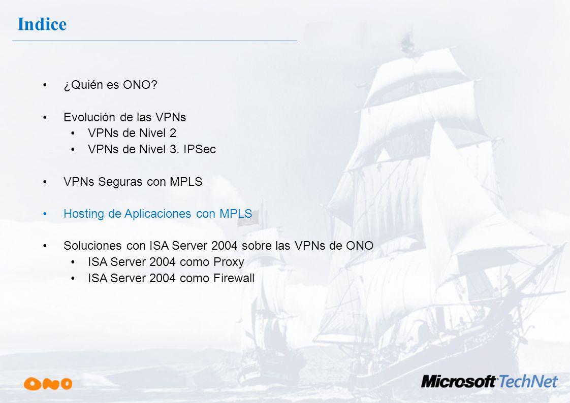Indice ¿Quién es ONO Evolución de las VPNs VPNs de Nivel 2