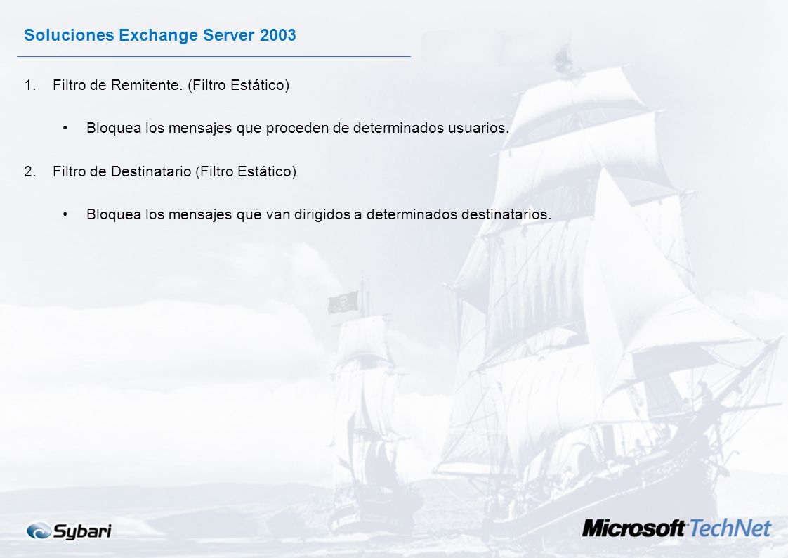 Soluciones Exchange Server 2003