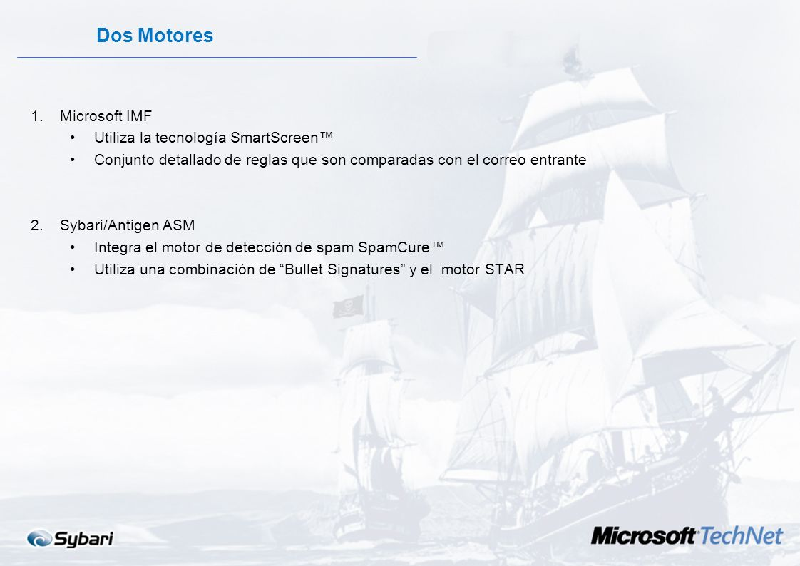 Dos Motores Microsoft IMF Utiliza la tecnología SmartScreen™