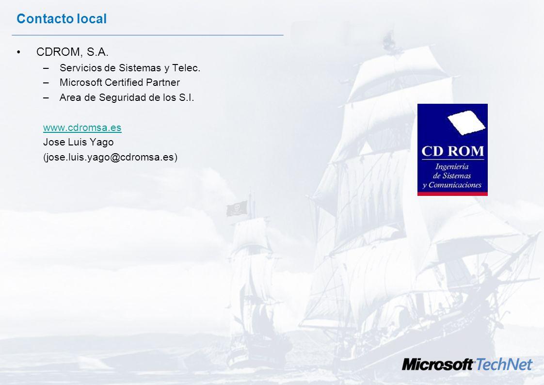 Contacto local CDROM, S.A. Servicios de Sistemas y Telec.