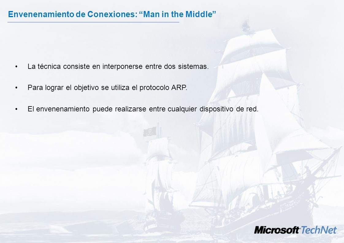 Envenenamiento de Conexiones: Man in the Middle