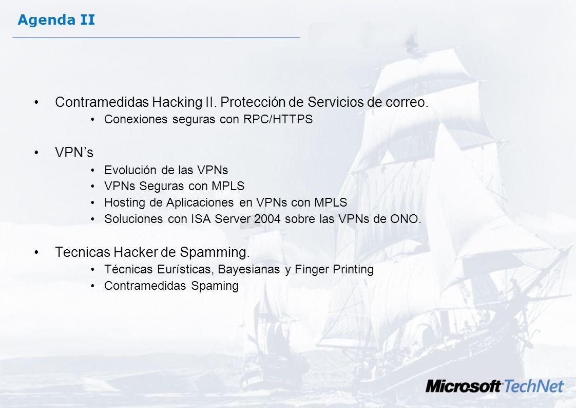 Contramedidas Hacking II. Protección de Servicios de correo.