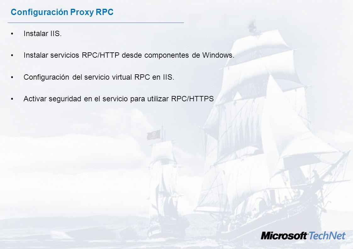 Configuración Proxy RPC