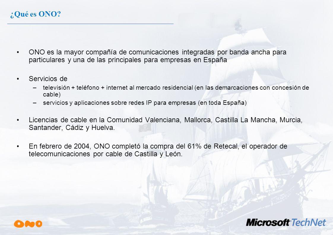 ¿Qué es ONO ONO es la mayor compañía de comunicaciones integradas por banda ancha para particulares y una de las principales para empresas en España.
