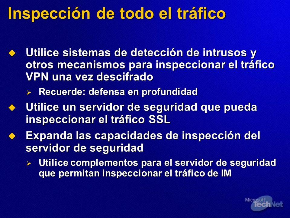 Inspección de todo el tráfico
