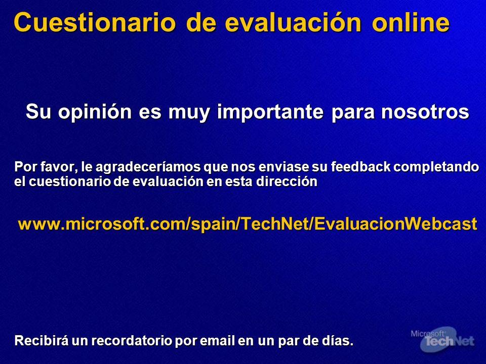Cuestionario de evaluación online