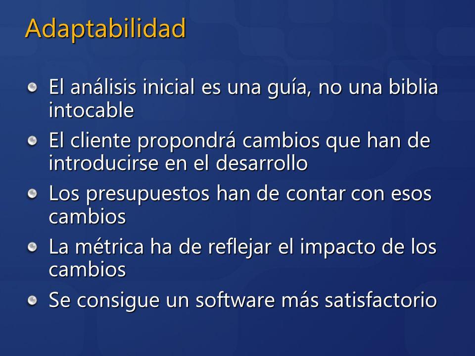 Adaptabilidad El análisis inicial es una guía, no una biblia intocable