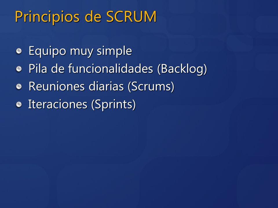 Principios de SCRUM Equipo muy simple