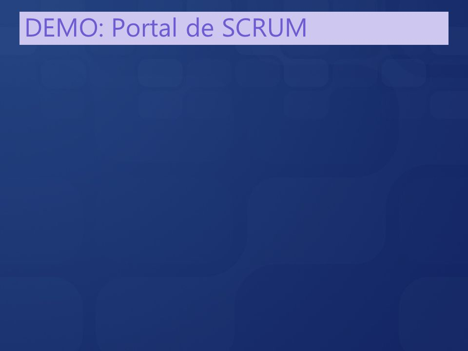 DEMO: Portal de SCRUM