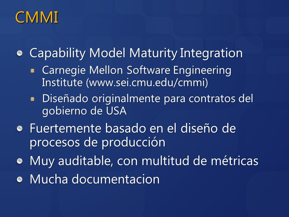 CMMI Capability Model Maturity Integration