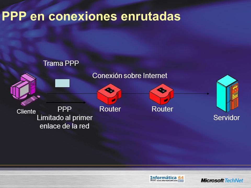 PPP en conexiones enrutadas