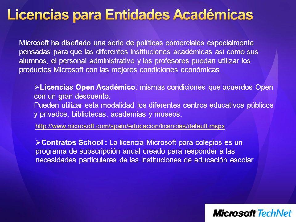 Licencias para Entidades Académicas