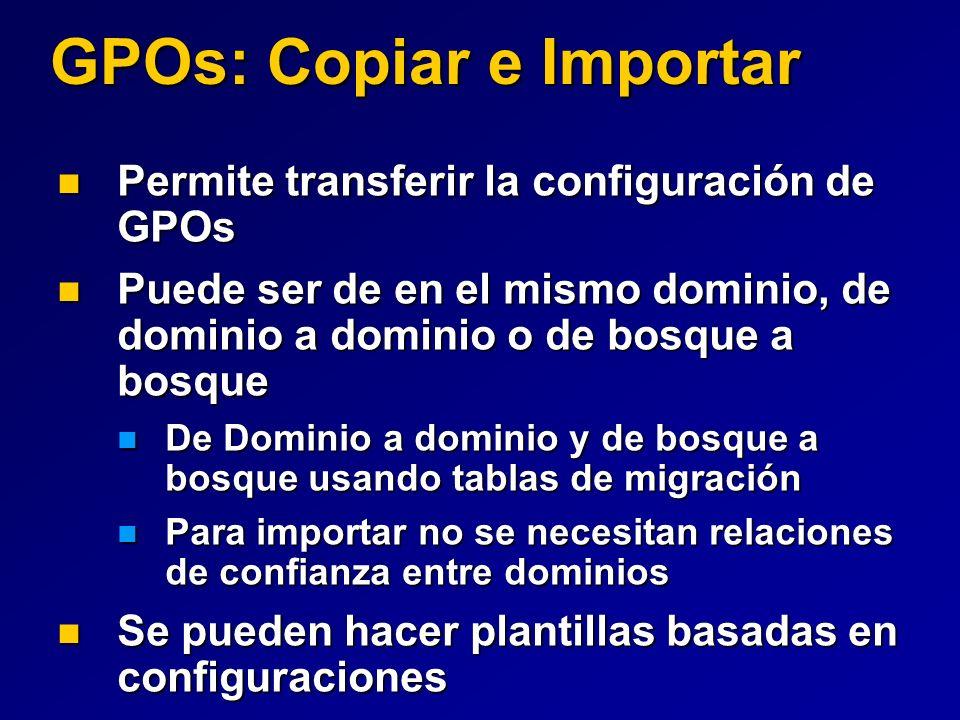 GPOs: Copiar e Importar