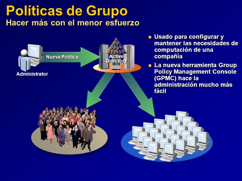 Políticas de Grupo Hacer más con el menor esfuerzo