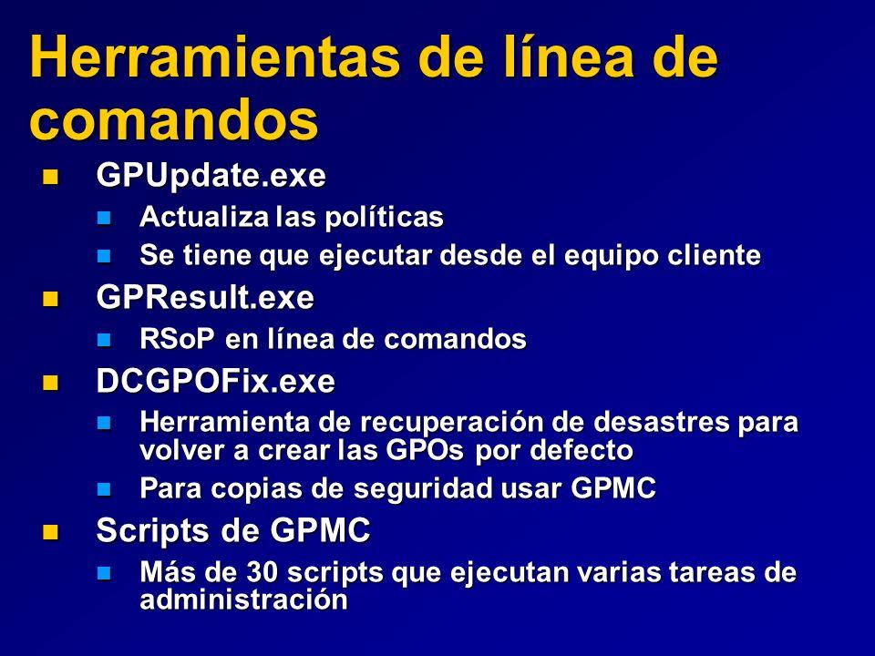 Herramientas de línea de comandos