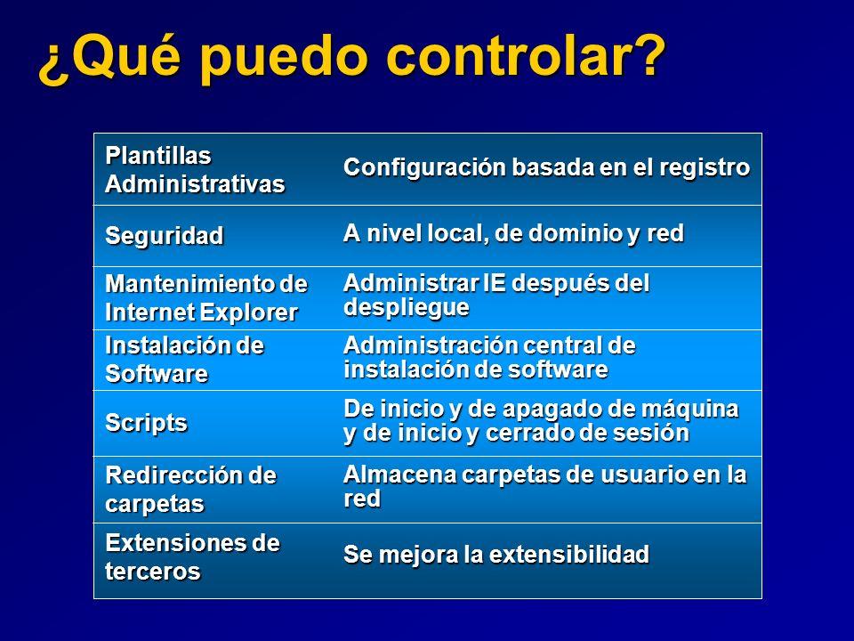 ¿Qué puedo controlar Plantillas Administrativas