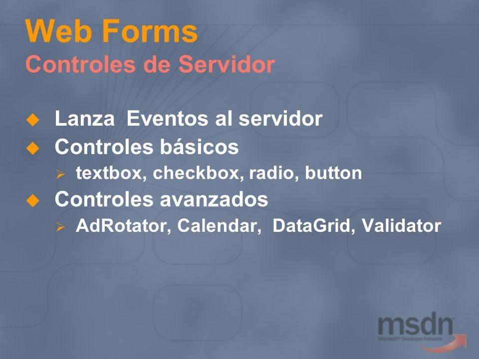 Web Forms Controles de Servidor