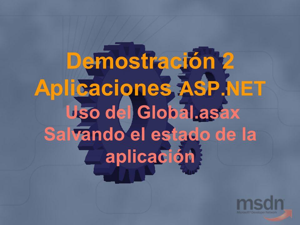 Demostración 2 Aplicaciones ASP. NET Uso del Global