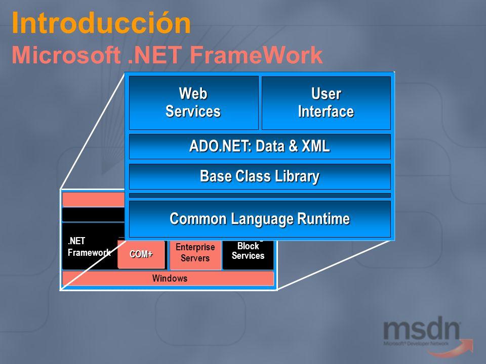 Introducción Microsoft .NET FrameWork