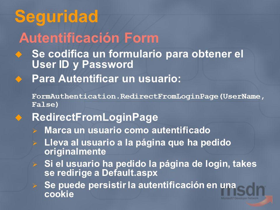 Seguridad Autentificación Form