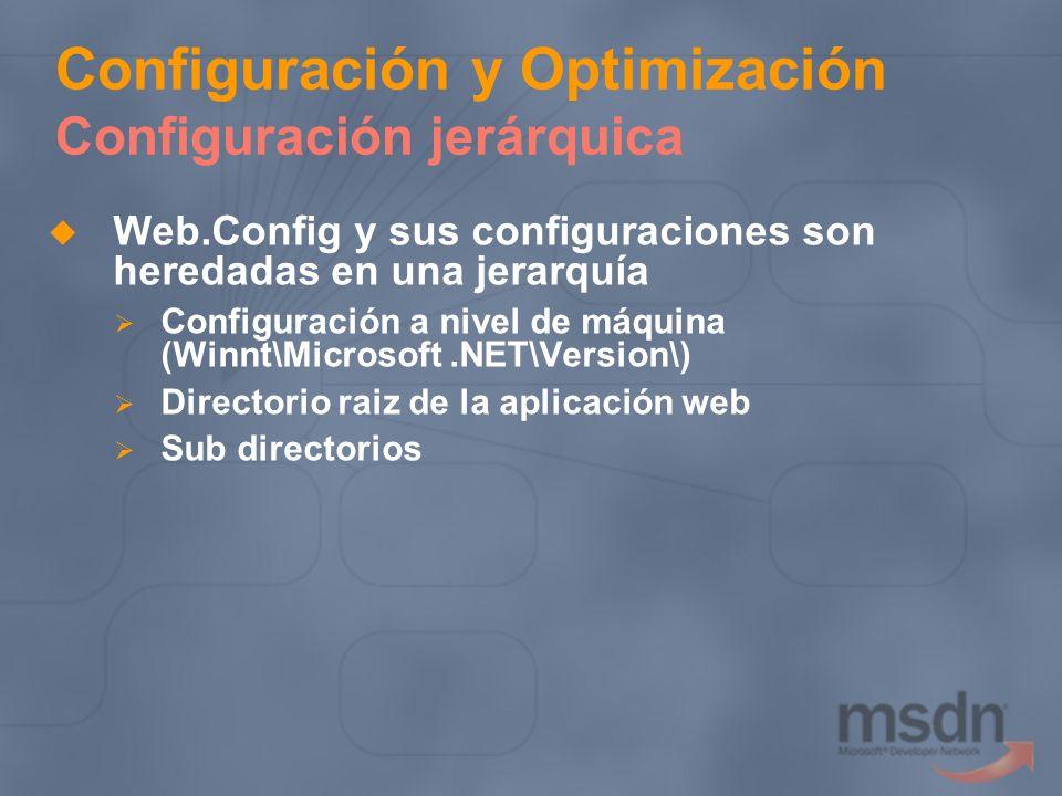 Configuración y Optimización Configuración jerárquica