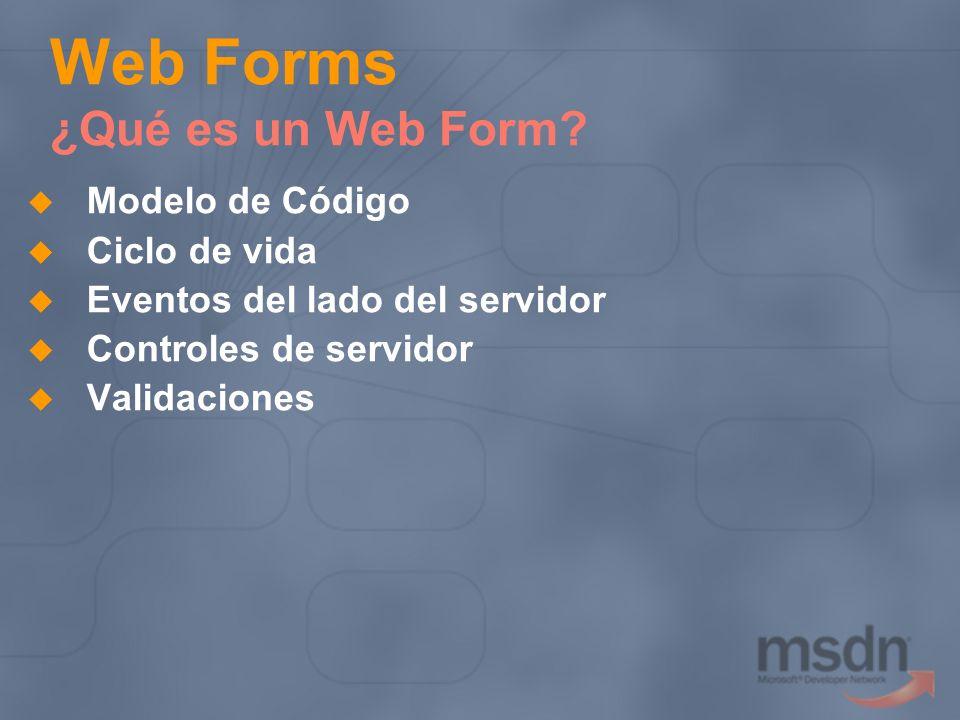Web Forms ¿Qué es un Web Form