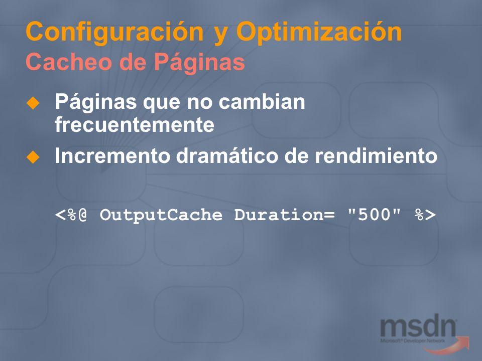 Configuración y Optimización Cacheo de Páginas