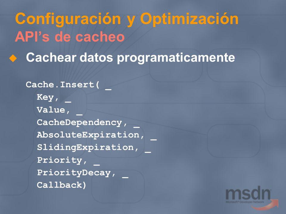 Configuración y Optimización API's de cacheo