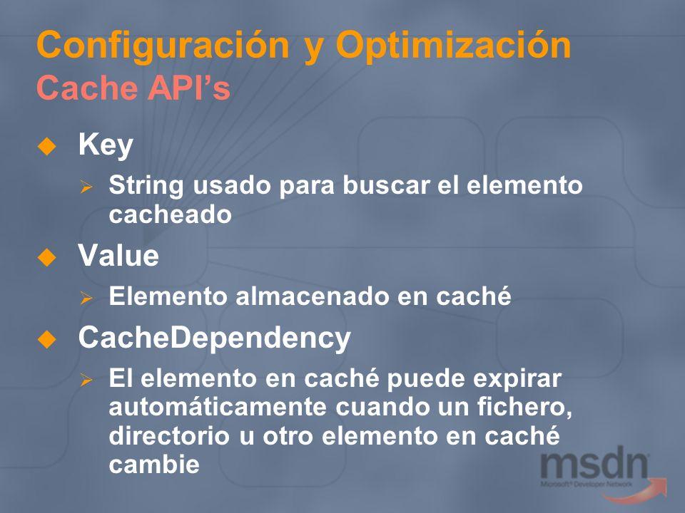 Configuración y Optimización Cache API's