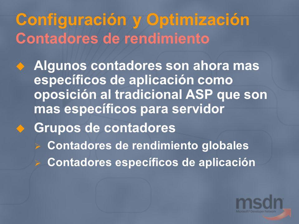 Configuración y Optimización Contadores de rendimiento