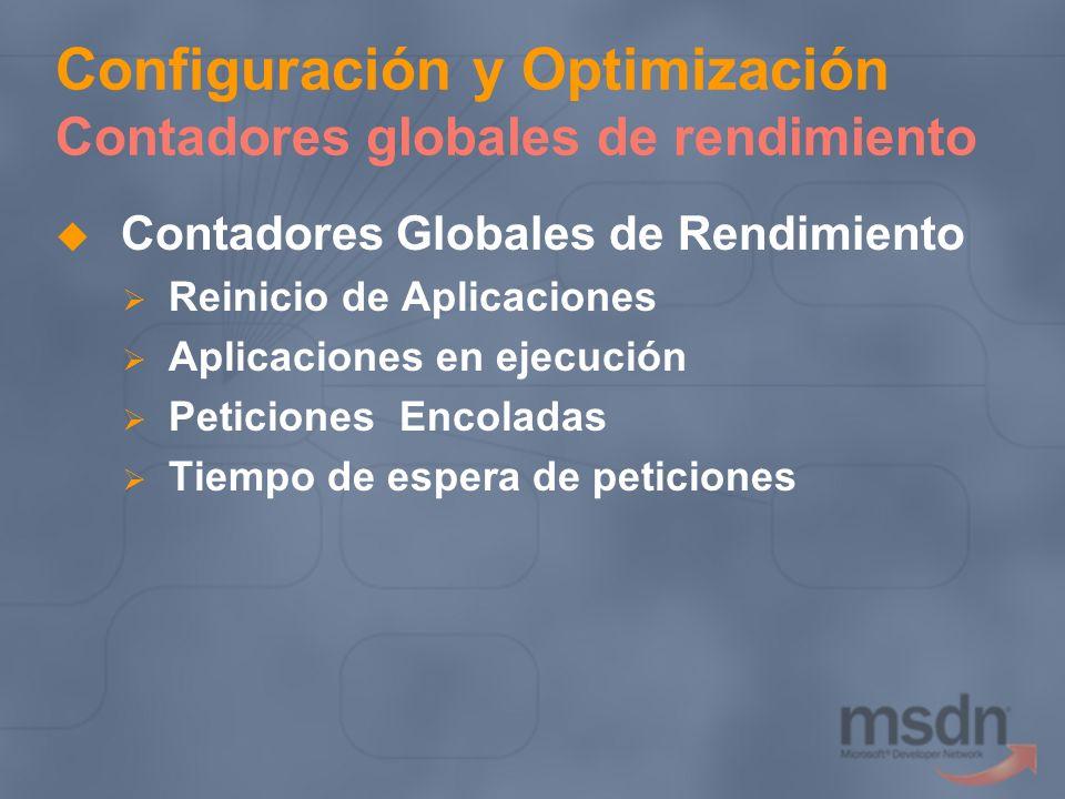 Configuración y Optimización Contadores globales de rendimiento