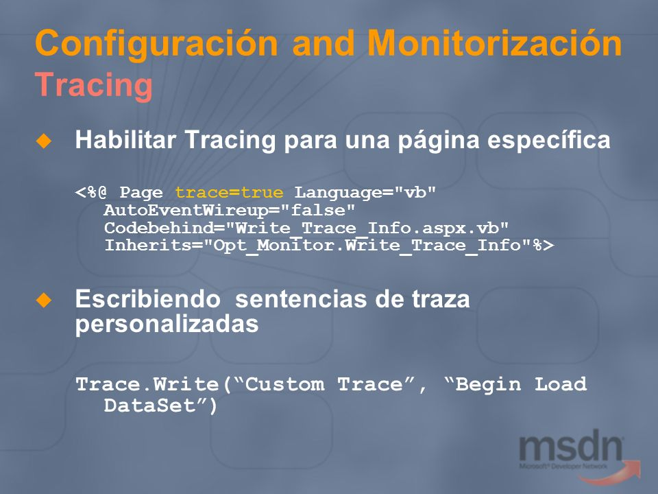 Configuración and Monitorización Tracing