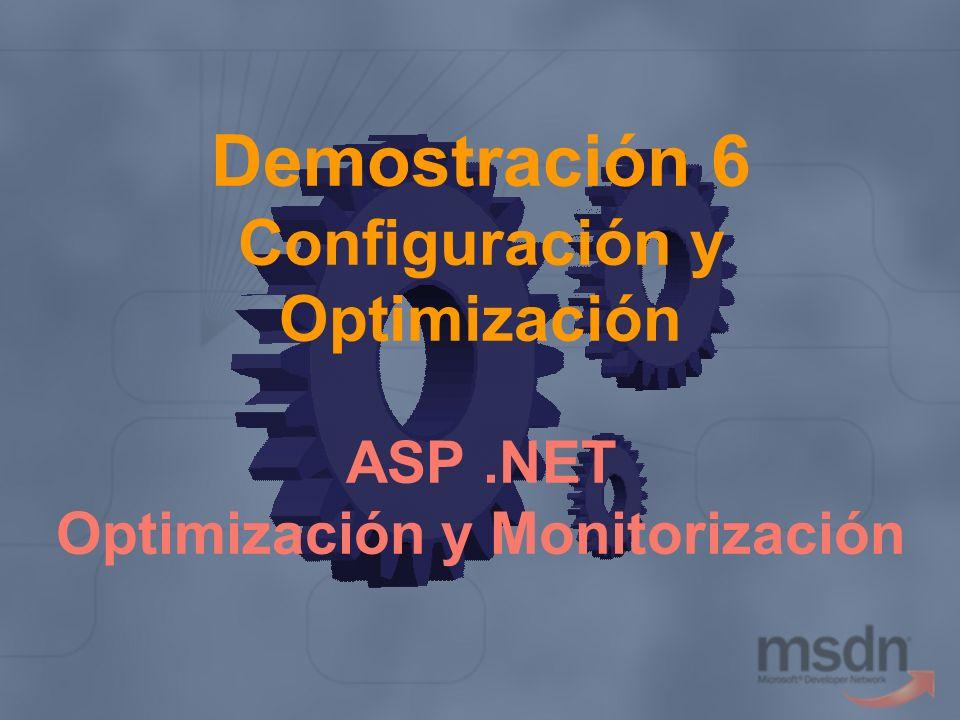 Demostración 6 Configuración y Optimización ASP