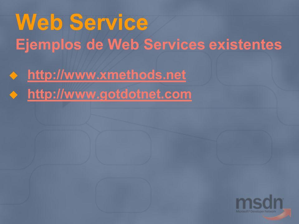 Web Service Ejemplos de Web Services existentes